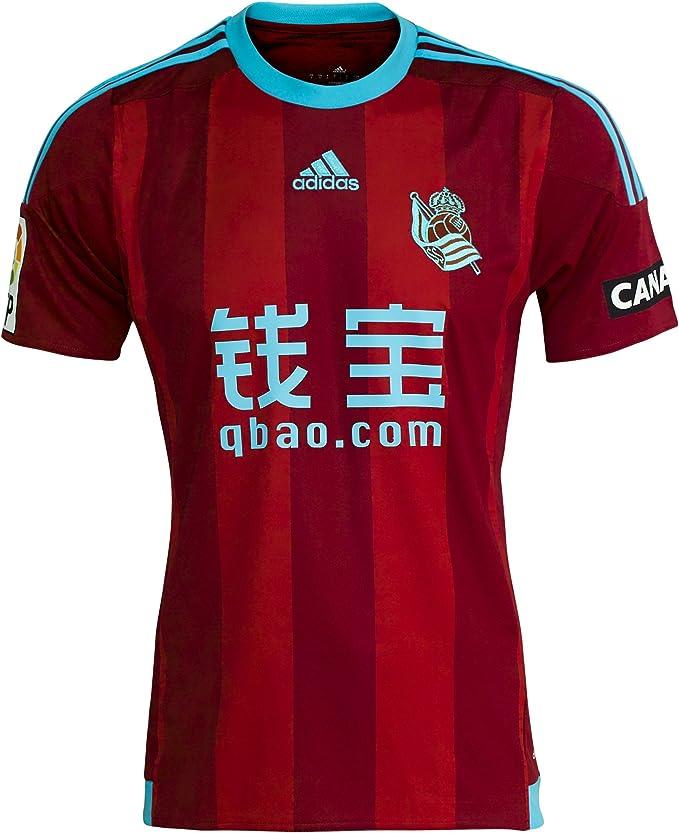 adidas Real Sociedad Away JSY - Camiseta para Hombre, Color Rojo/Azul, Talla 2XL: Amazon.es: Zapatos y complementos