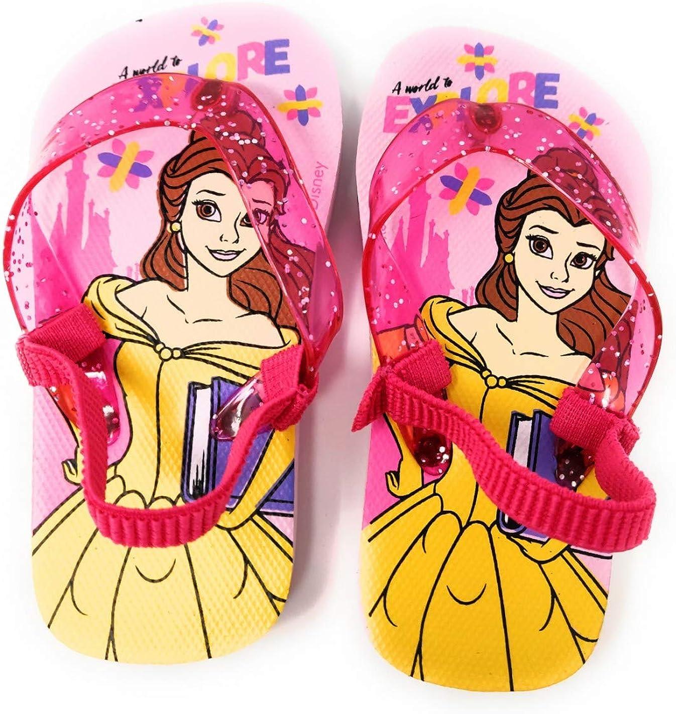 Tongs avec /élastique Enfant Fille Disney Princesse Belle Rose du 22 au 27