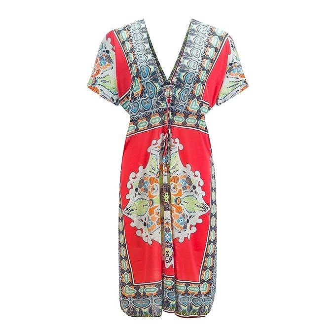 Beauty7 Kimono Vestidos Suelte Blusa Espuma de Poliuretano Algodón de Seda del Hielo Faltas La Playa