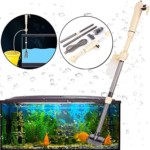 Yosoo - Aspirador de desechos eléctrico y automático de sifón para acuarios y peceras tortugueras y acuaterrarios de agua dulce o salada: Amazon.es: Productos para mascotas