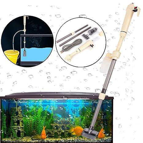Yosoo - Aspirador de desechos eléctrico y automático de sifón para acuarios y peceras tortugueras y