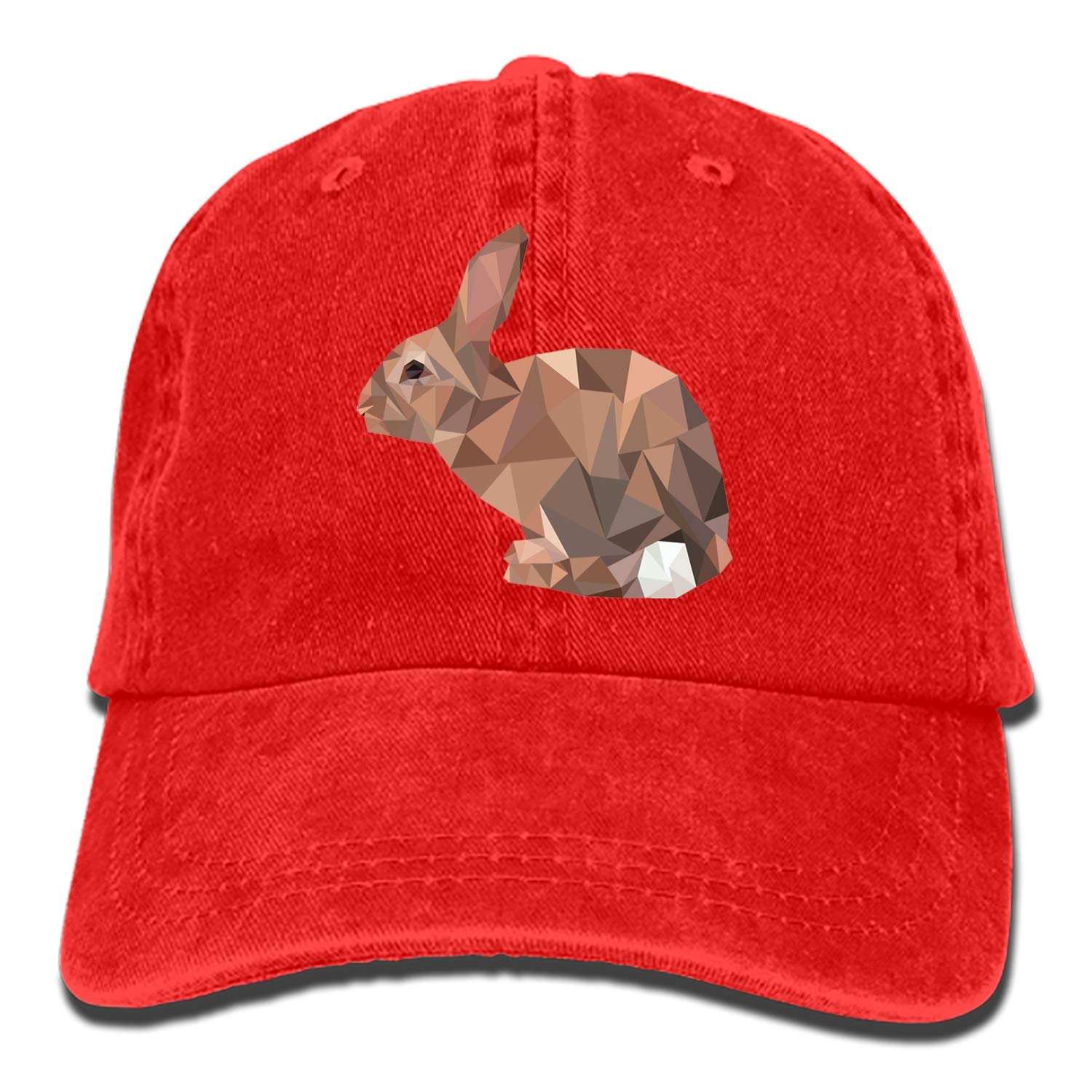 Cute Rabbit Denim Baseball Caps Hat Adjustable Cotton Sport Strap Cap for Men Women