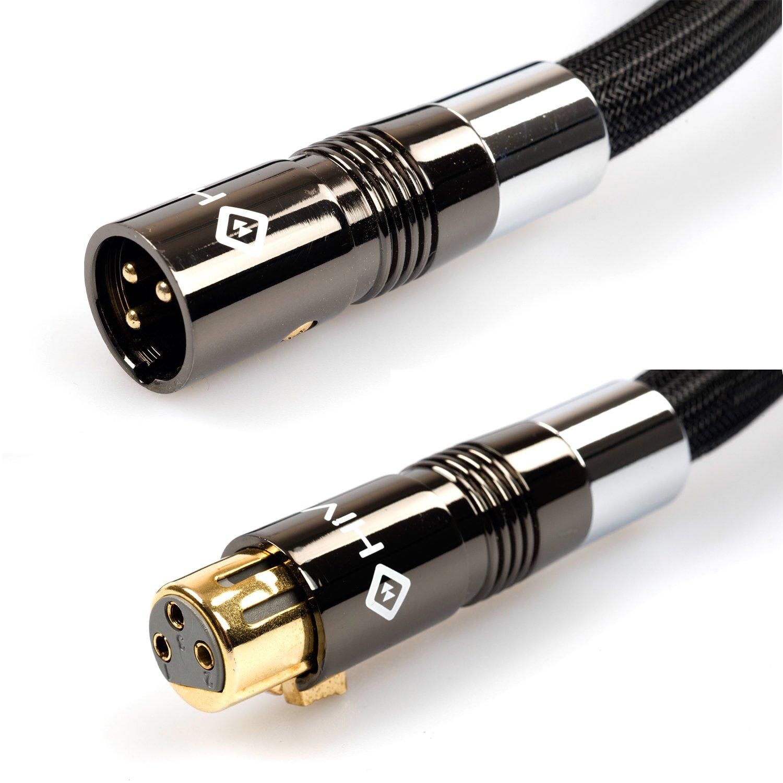 di/ámetro de 14/mm Cable HiViLux/equilibrado HIFI//NF//XLR par est/éreo de 2/canales OCC//SCC