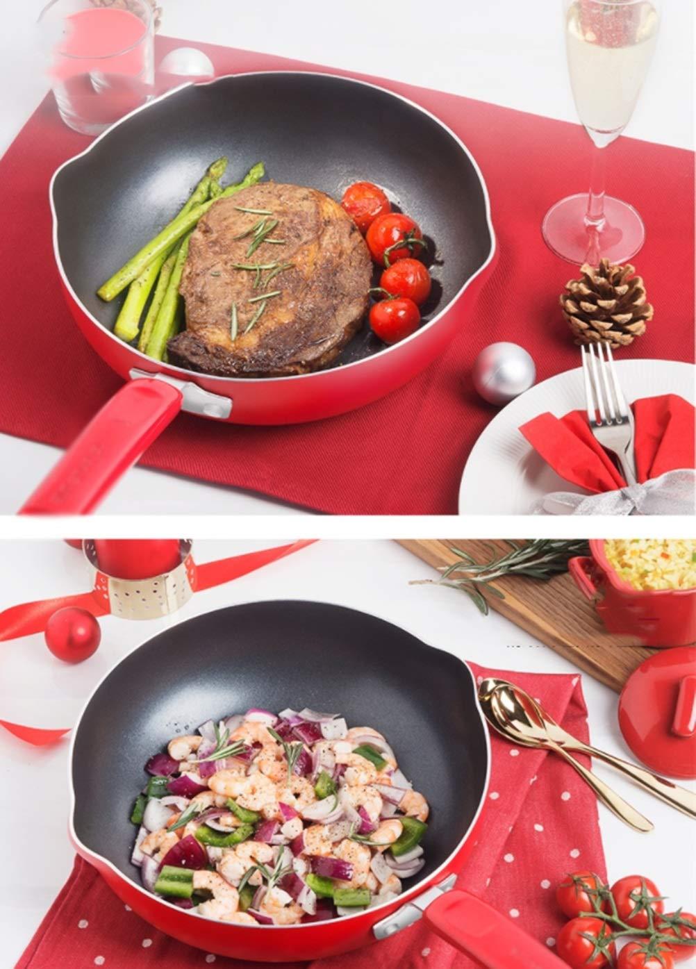 WYQSZ Wok - Non-stick cooker non-stick wok flat bottom non-stick wok kitchen cooking multi-function wok -fry pan 2365 (Capacity : B) by WYQSZ (Image #7)