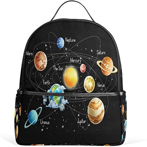 Drawstring Backpack Space Stars Planets Moons Bags