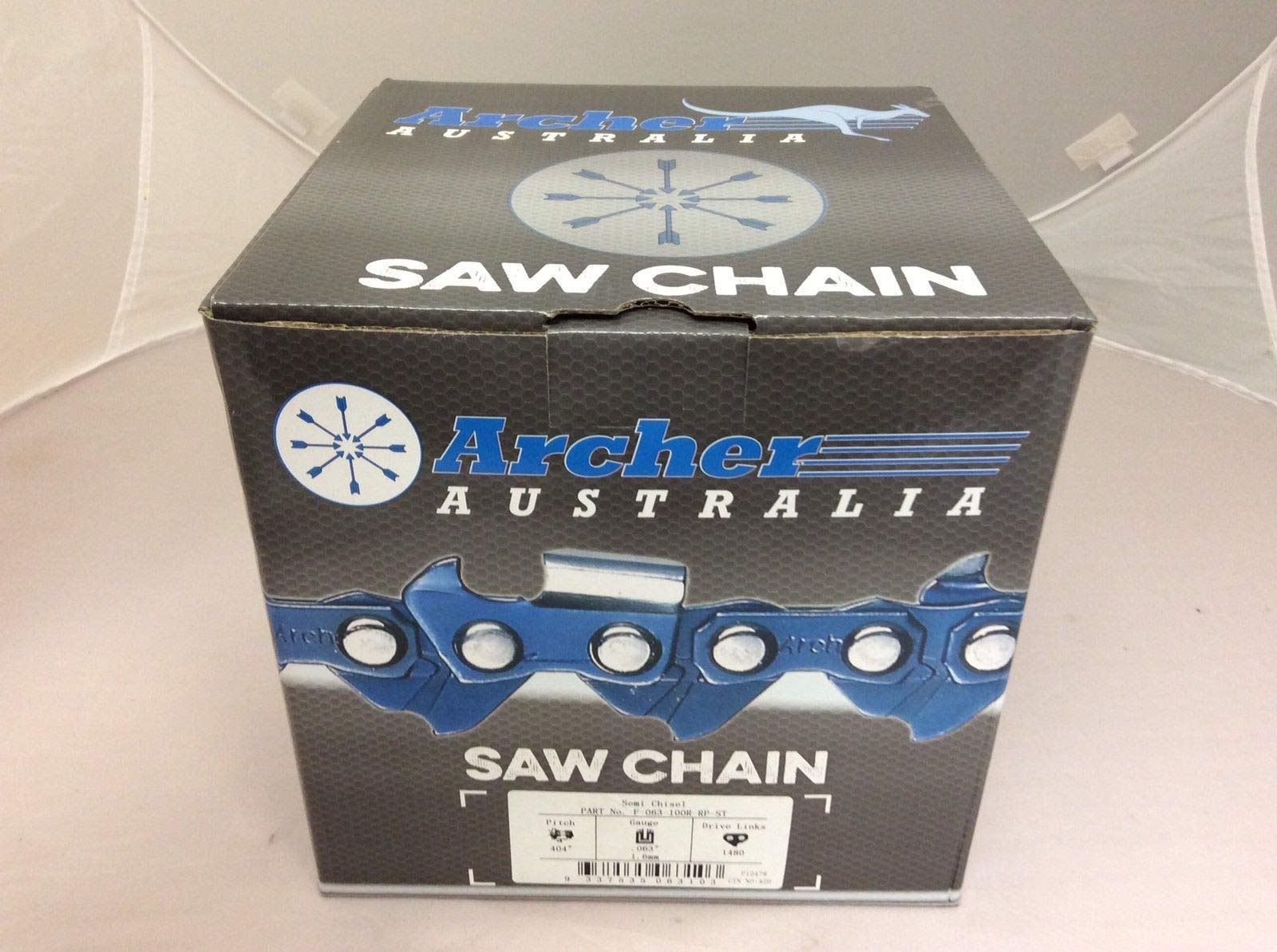 Archer Chainsaw Chain 100ft Roll .404 .063 Skip Tooth Ripping Chainsaw Chain