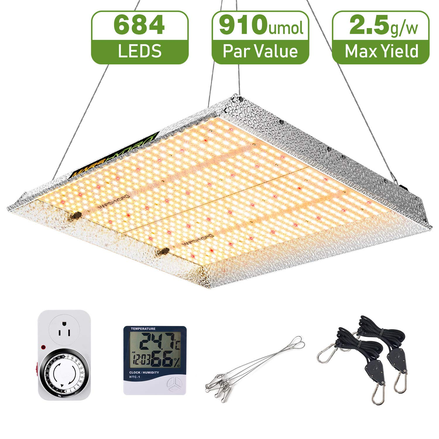 MARS HYDRO TSW 2000W Led Grow Light Full Spectrum for Indoor Plants Veg Bloom with Updated LED White Growing Lamps by MARS HYDRO