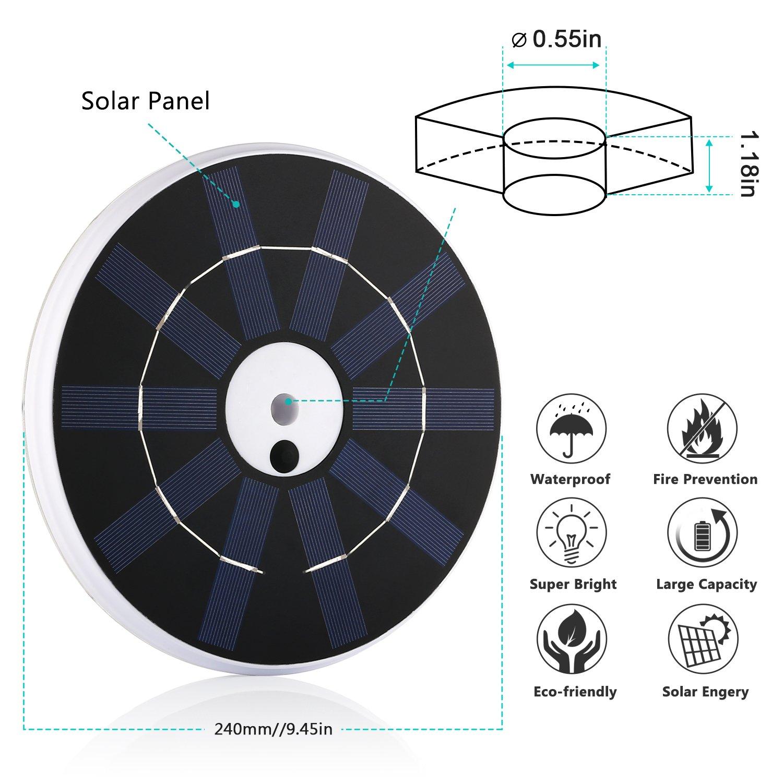 Solar Flag Pole Lights 32 LED Solar Powered Flagpole Lighting Night Light Kit for 15 to 25 Ft Top (Built-in Li-ion Battery) by Feelle (Image #4)