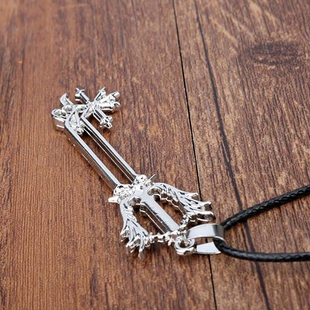 Inveroo Reino Corazones Roxas Espada Colgante Collar De ...
