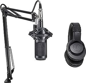 Audio Technica PC Gaming Twitch Live Stream Pack w/2035 Mic+Headphones+Boom: Amazon.es: Instrumentos musicales