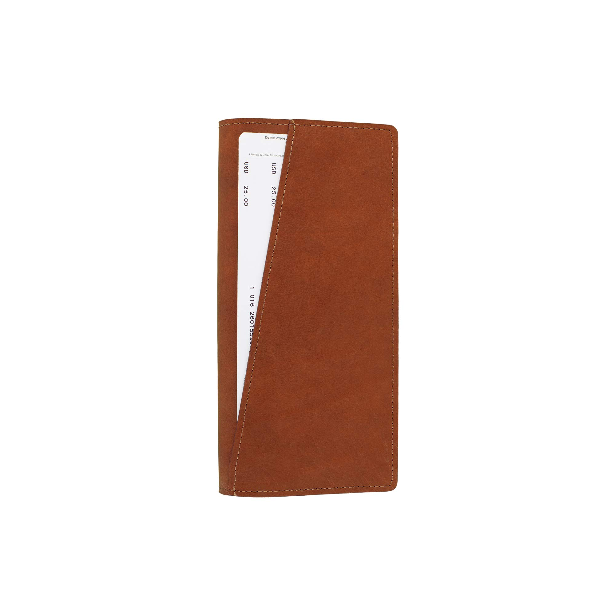 SLATE COLLECTION Lakeway Travel Wallet, Full-grain Leather (Cognac) by SLATE COLLECTION