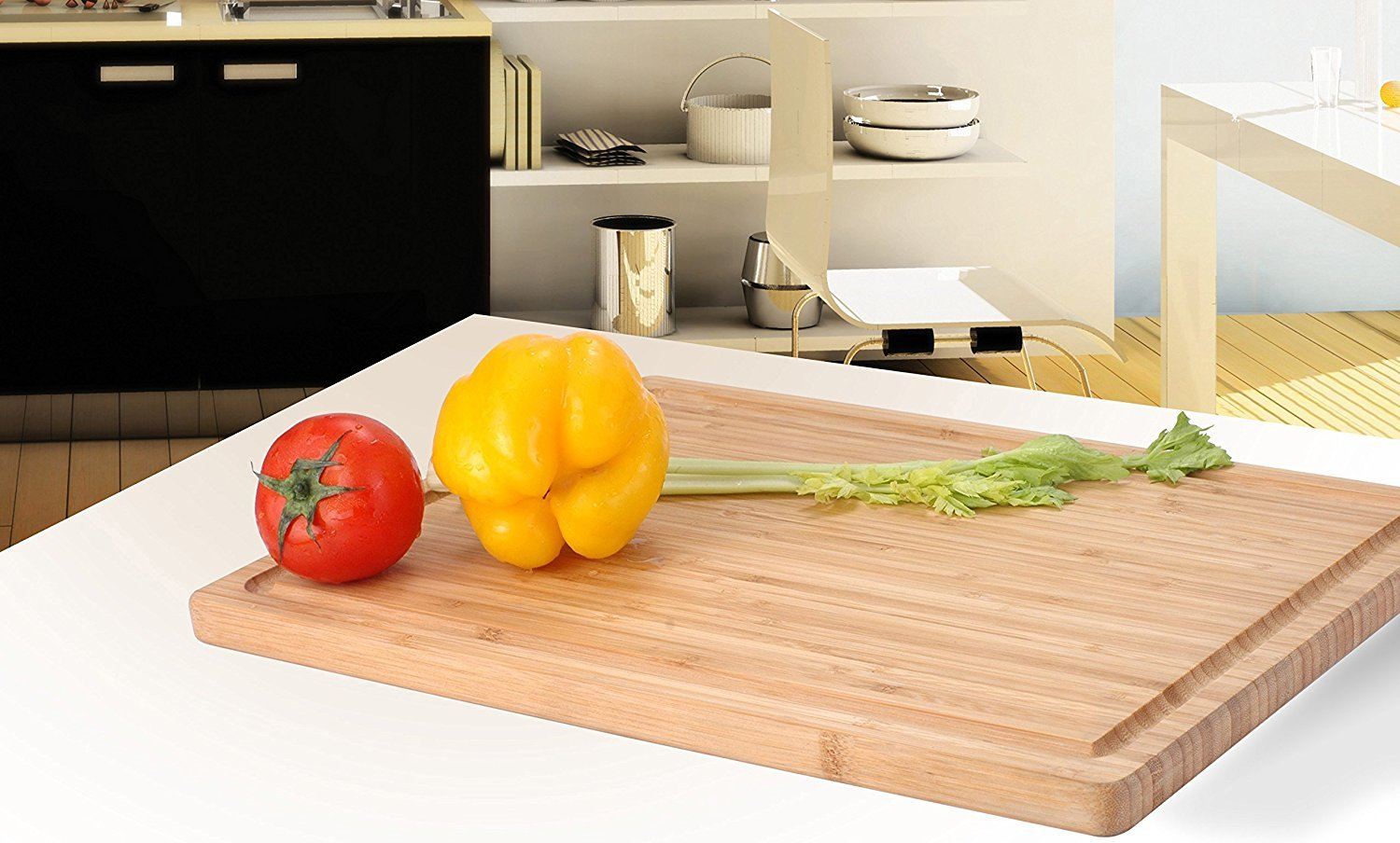 Utopia Kitchen Extra Large Bamboo Cutting Board (16.9 by 12 inch) by Utopia Kitchen (Image #3)