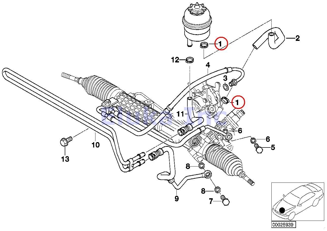2 X Bmw Genuine Hydraulic Power Steering Lines Hose 2012 F12 650i Sdrive Engine Cooling System Car Parts Diagram Clamp 21 Mm Crimp Type 320i 323ci 323i 325ci 325i 325xi 328ci 328i 330ci 330i 330xi M3