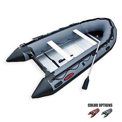 Seamax Ocean380 12 5 Feet Heavy Duty Inflatable Boat, Hot Welded Chamber  Seam, Aluminum Floor, 5+1 Chambers, V Bottom, Reinforced Transom, Max 5