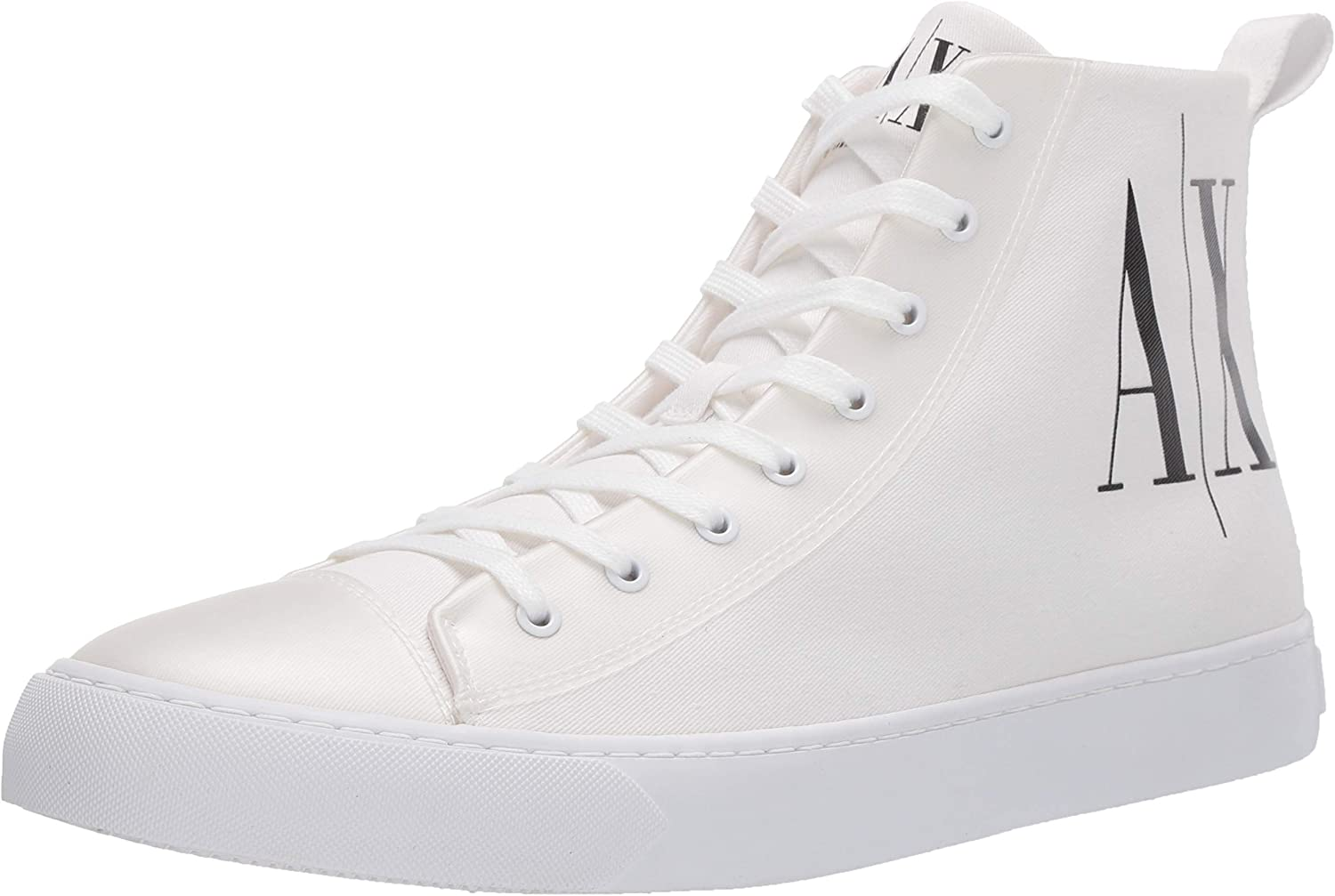 A|X Armani Exchange Men's Icon Project Logo High Top Lace Up Sneaker