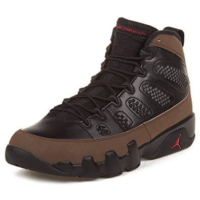 4a7851c4bad Amazon.com | Nike Mens Air Jordan 9 Retro Olive Leather Basketball ...