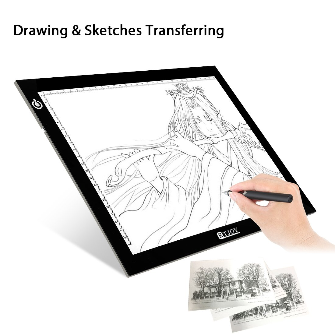 12.2x8.27 Inches Litup A4 LED Light Box Tracer Ultra-Thin USB Powered Adjustable LED Artcraft Tracing Light Pad for Artists Drawing Sketching Animation Designing Stencilling X-ray Viewing