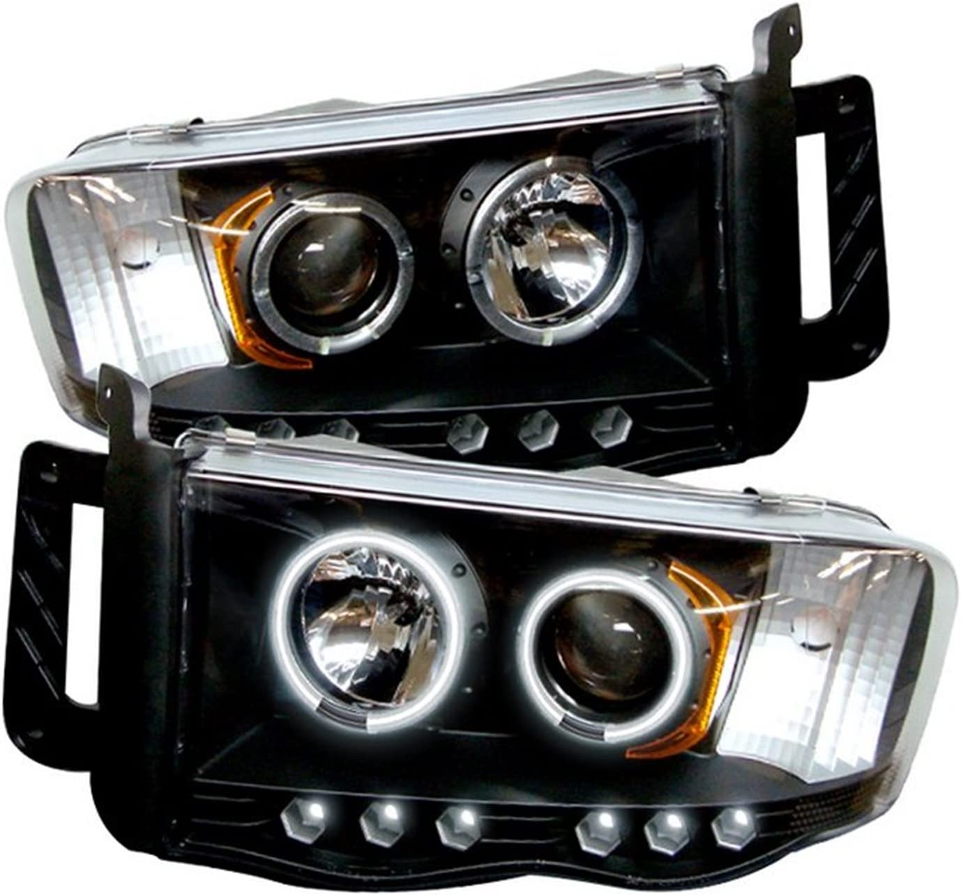 2008 Subaru IMPREZA 5DR -Black Post mount spotlight Passenger side WITH install kit 100W Halogen 6 inch