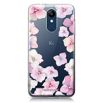 CASEiLIKE® Funda LG K8 2018, Carcasa LG K8 2018, Hortensia 2257, TPU Gel Silicone Protectora Cover