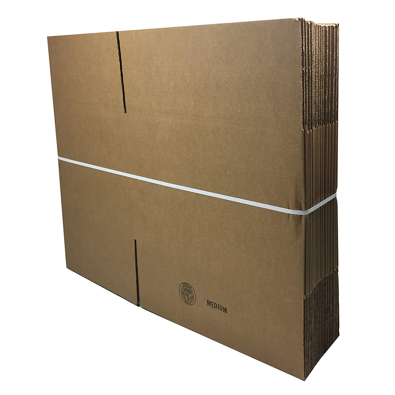BOXMINIMED10 Cardboard Box uBoxes Medium Moving Boxes 18 x 14 x 12 inch 10 Pack
