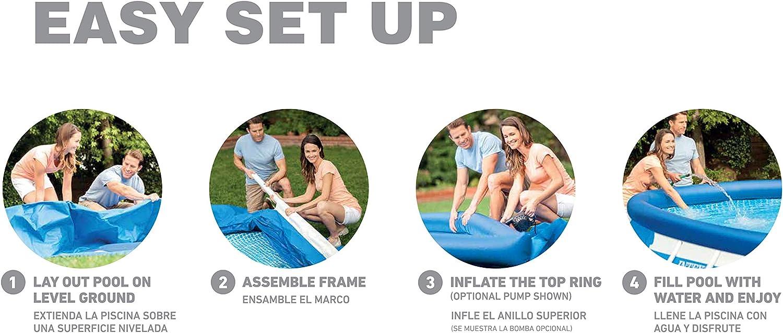 Intex Frame Pool Set, Azul, 549 x 305 x 107 cm: Amazon.es: Jardín