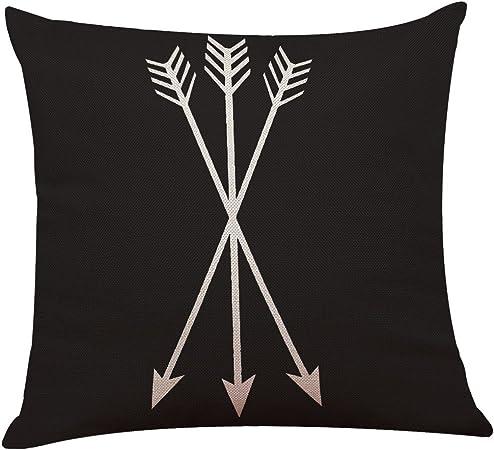 Mobast Housses De Coussin Cotton Linen Motif Noir Et Blanc