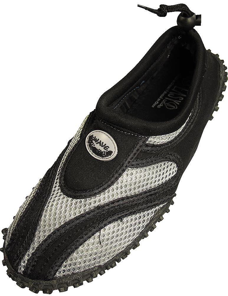 The Wave Men's Waterproof Water Shoes (10, Black Grey)