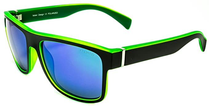 8ac9522760 Amazon.com  Floats Polarized F-4228 08 Great Square Flat top. Two tone in  matte finish and mirror lens  Clothing