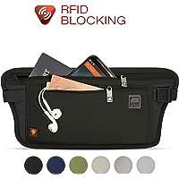 Lewis N. Clark RFID-Blocking Waist Stash Anti-Theft Hidden Money Belt Black One Size