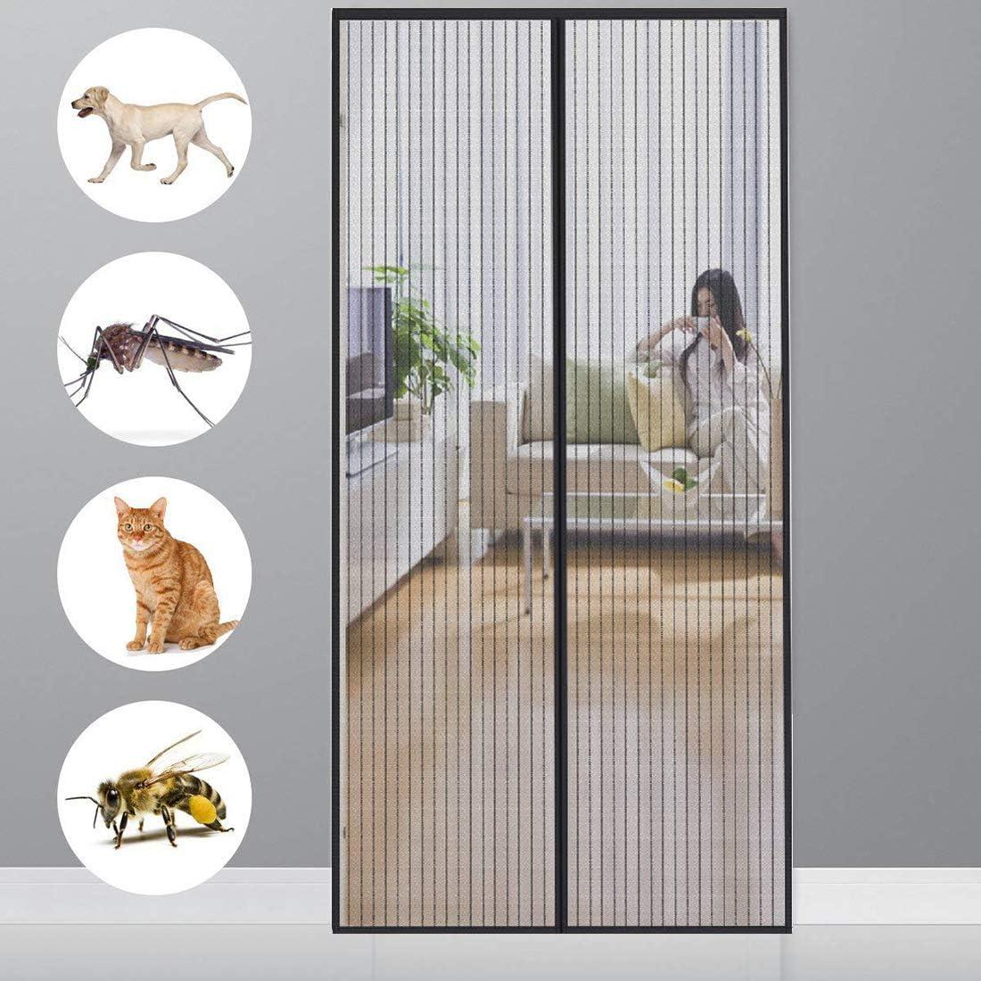 Klebemontage Ohne Bohren Passt T/ürgr/ö/ße bis zu Black CHENG Magnet Insektenschutz T/ür 150x230cm Automatisches/Schlie/ßen/Insektenschutz/f/ür Magnet Fliegenvorhang