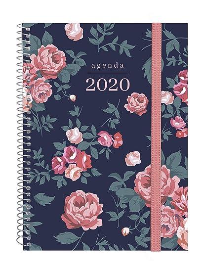 Finocam - Agenda 2020 semana vista apaisada Espiral Design Collection Elegant español