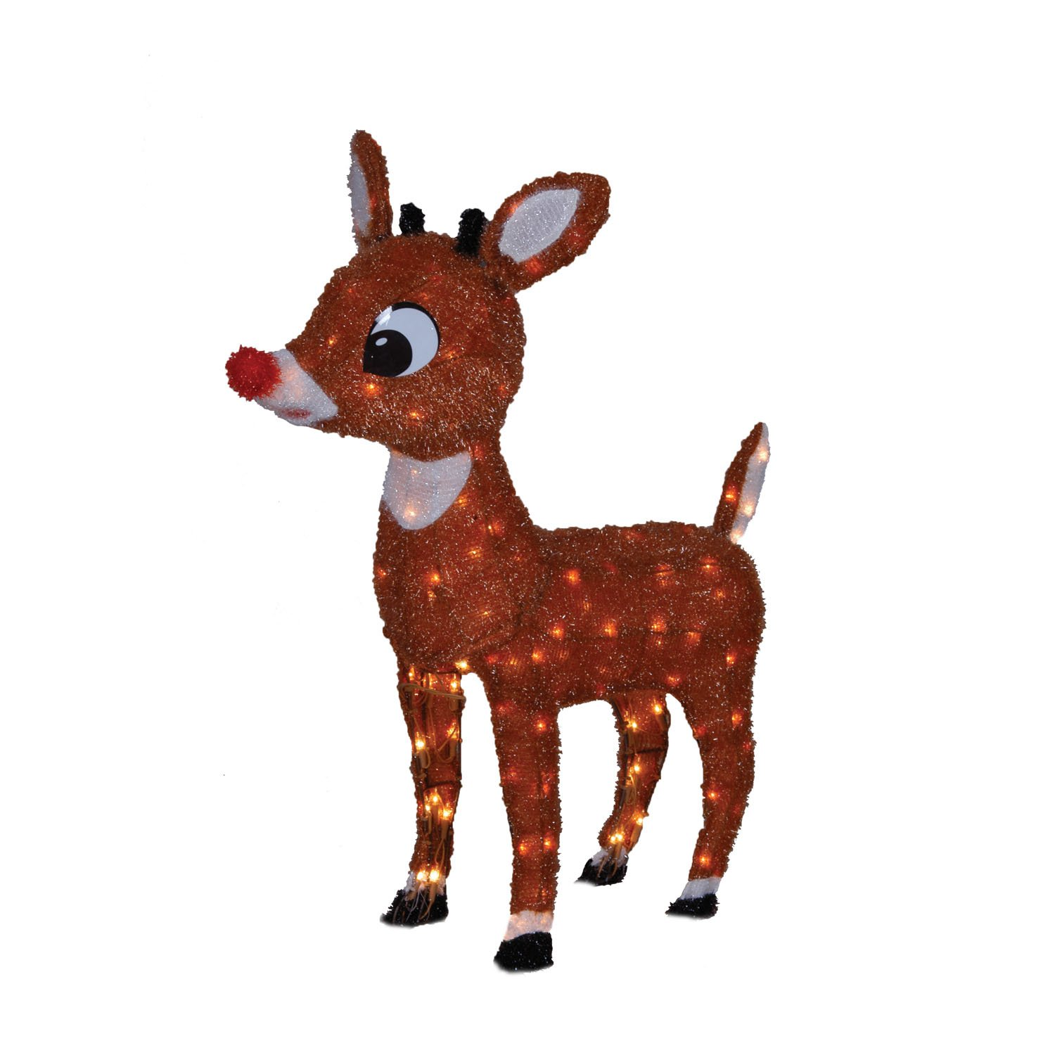 Amazon.com : ProductWorks 26-Inch Pre-Lit Rudolph the Red-Nosed Reindeer  Soft Tinsel Christmas Yard Decoration, 100 Lights : Patio, Lawn & Garden - Amazon.com : ProductWorks 26-Inch Pre-Lit Rudolph The Red-Nosed