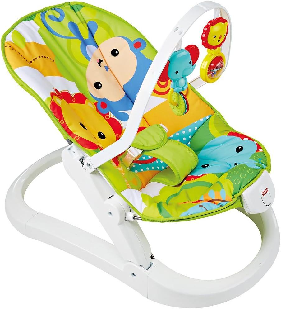 Fisher-Price Hamaca plegable animalitos de la selva, hamaca para bebé (Mattel CMR20) , color/modelo surtido