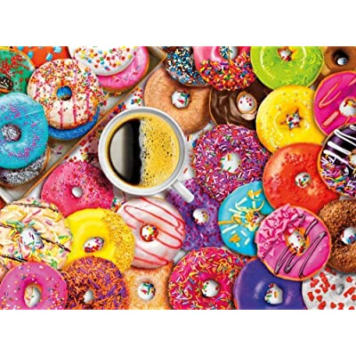 BHHCR Jigsaw Puzzles for Adults 1000 Piece - Donuts - Large Size Wooden Every Piece is Unique Intellectual Development: Toys & Games