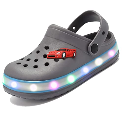 f5bfa2d19 Nishiguang LED Clogs Flash Lighted Sandals Shoes Summer Beach Shoes  Breathable Slip-on Slippers for