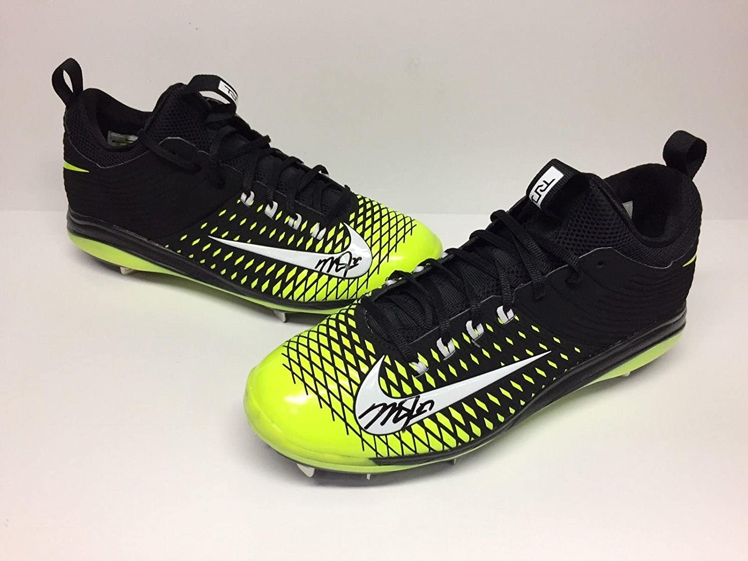 1df17abd13ea Autographed Mike Trout Baseball - Neon Yellow Black Nike Cleats Shoes   COA  - Autographed MLB Cleats at Amazon s Sports Collectibles Store