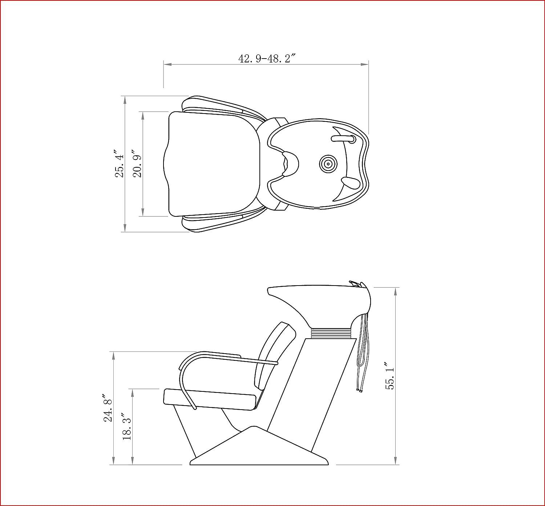 Hair cutting chair dimensions - Hair Cutting Chair Dimensions 10