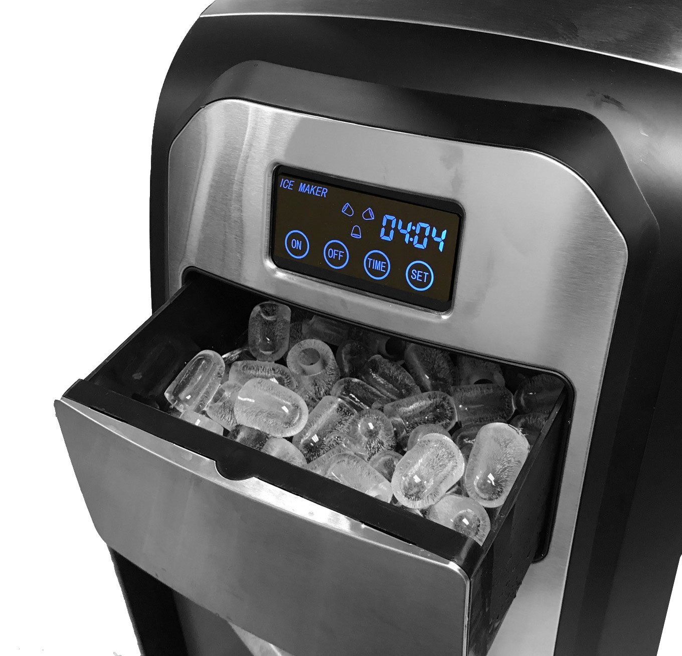 Touch Screen Stainless Steel Countertop Portable Ice Maker Great for Home Office Boat RV Ice Cube Machine Angel