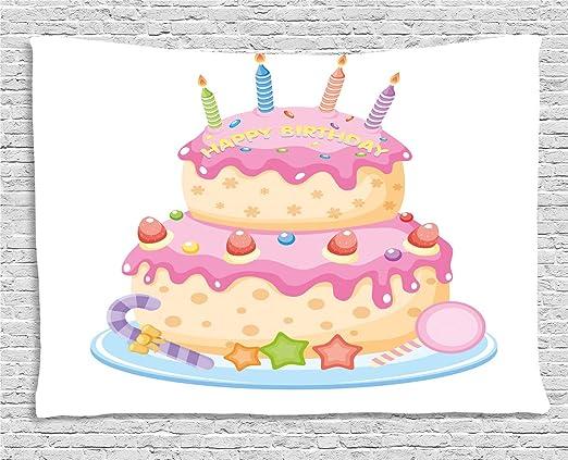 Decoración de cumpleaños para niños - por Ambesonne, arco ...
