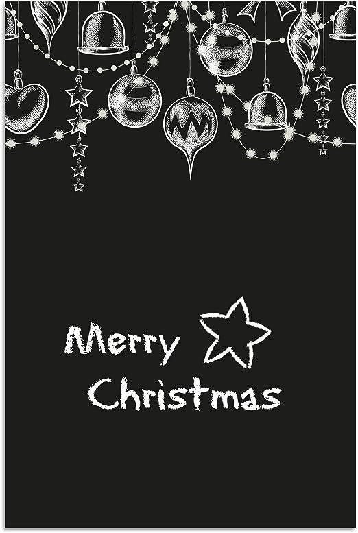 navideño Pizarra, pared, diseño navideño, tamaño: 40 x 60 cm, para escribir, con 2 x tiza: Amazon.es: Juguetes y juegos