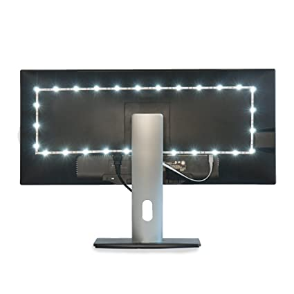 Luminoodle bias lighting tv backlight strip 6000k usb powered led ambient light to reduce eye