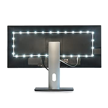 Luminoodle bias lighting home theater light led backlight strip 6500k usb ambient lighting