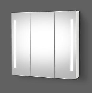 Spiegelschrank Bad Mit Beleuchtung.Planetmöbel Led Spiegelschrank Bad Badspiegel Spiegelschrank Mit Led Beleuchtung 90 Cm
