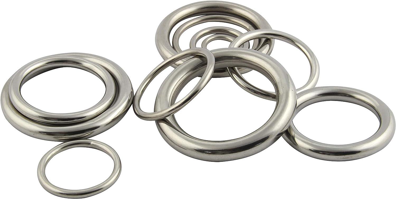 Edelstahl O Ring Rundring rostfreier Edelstahl A4 V4A 2 St/ück FASTON Edelstahlringe 5x30mm geschwei/ßt und poliert