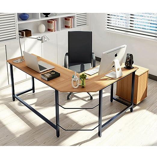 Mesa de escritura en forma de L / escritorio de ordenador con ...