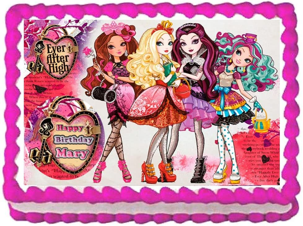 30 x EVER AFTER HIGH Party Edible Wafer Paper Cupcake Toppers *PRECUT*