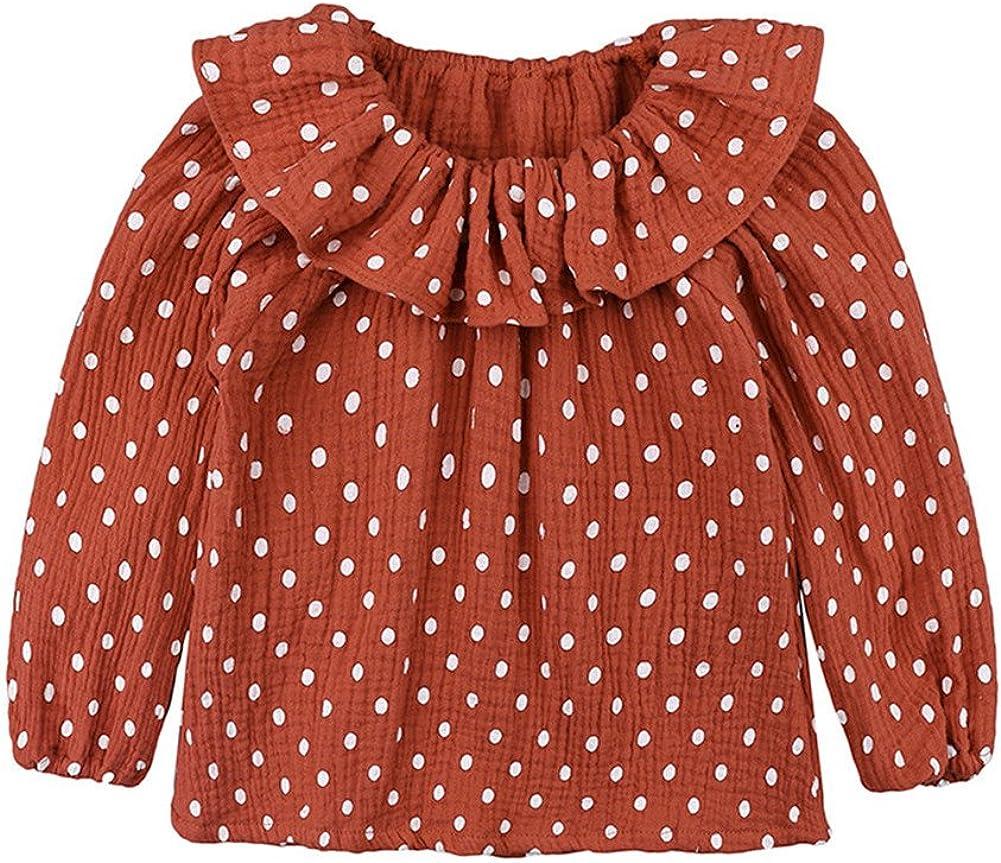 ChagoArt Toddler Long Sleeve Shirts Girl-Baby Girls Long Sleeve Tops-Girls Tees Blouse