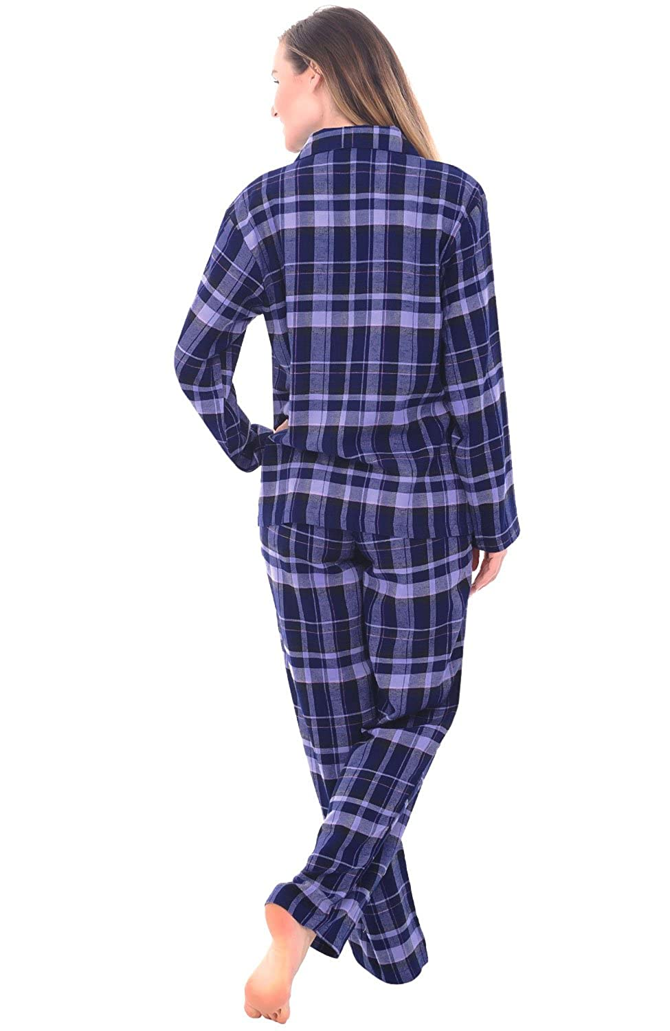 Alexander Del Rossa Womens Flannel Pajamas, Long Cotton Pj Set, Medium Blue Plaid (A0509Q18MD) at Amazon Womens Clothing store:
