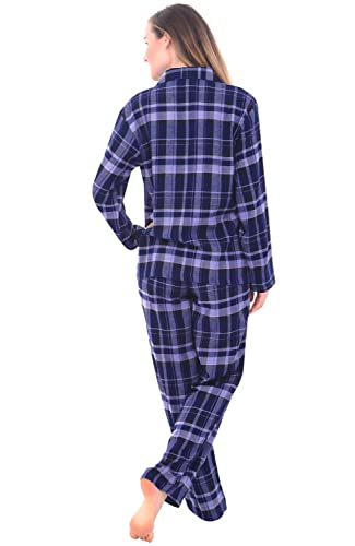Alexander Del Rossa Womens Flannel Pajamas, Long Cotton Pj Set, XL Blue Plaid (A0509Q18XL) at Amazon Womens Clothing store:
