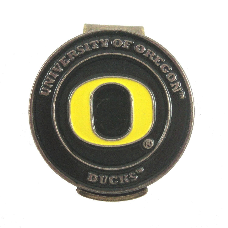 Oregon Ducks Golf Hat Clip with両面ボールマーカー   B018DTO6FO
